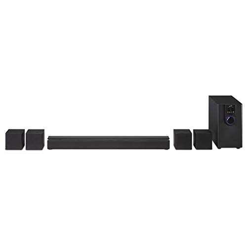 iLive 5.1 Home Theater System with Bluetooth, Wall Mountable, 26 Inch Speaker with 4 Satellite Speakers (IHTB138B)