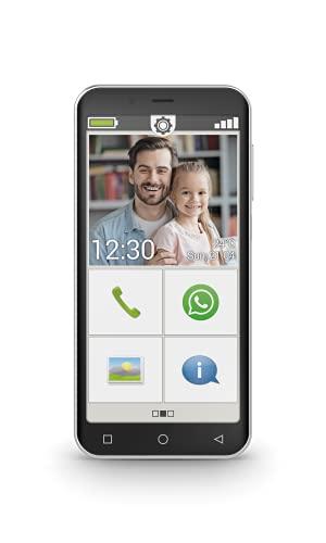 """Emporia SMART.4 - Smartphone 4G, Display 5"""", 32GB, 3GB RAM, Fotocamera 13 Megapixel, Tasto SOS, Interfaccia semplificata, Accesso facile Whatsapp, Android 10, Black (Italia)"""
