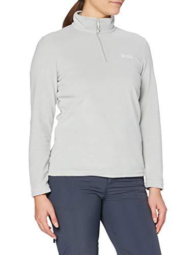 Regvv|#Regatta Women Sweethart Lightweight Half Zip Active Hiking Symmetry Fleece - Light Steel, 12