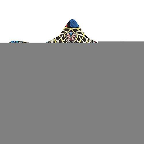 ahliwei Manta De Capucha, Capa, Gorra Mágica De La Serie De Elefantes, Manta, Gruesa, Impresión Digital 3D De Felpa De Doble Capa. 150x200 GM0032-6