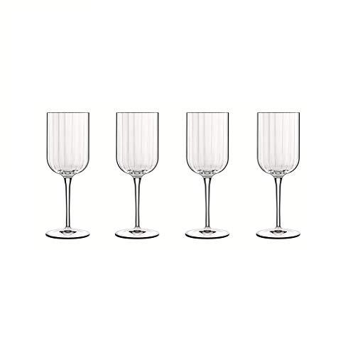 Luigi Bormioli 7540468 Boîte de 4 Verres à vin, Cristal, Transparent, 7x7x20,6 cm