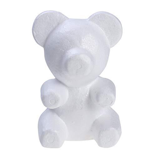 Amosfun Polystyrol-Styropor-Schaum-Bär Weiß Craft Foam Balls für DIY Handwerk Hochzeit Dekoration Blumen-Arrangement Geburtstagsgeschenk für Kinder