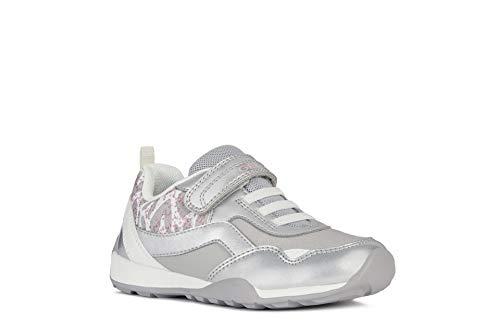 Geox Jocker Plus Girl - Zapatillas de deporte para niña, color Plateado, talla 32 EU