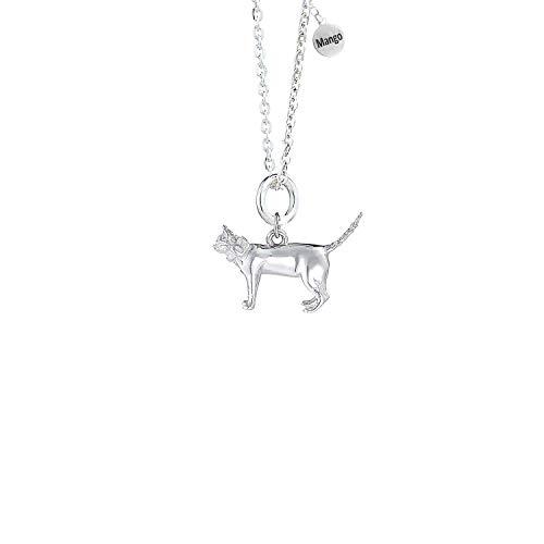MYLEE London Collar de plata de ley de gato de pelo corto ML026-SN
