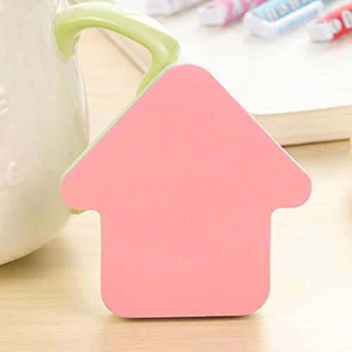 Creative Post Farbe Selbstklebende Notizen Selbstklebende Haftnotiz Süße Notizblöcke Gepostete Schreibblöcke Aufkleber Papier 100 Blatt / Block-Kleines Haus