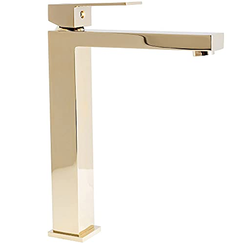 REA Grifo monomando para baño (altura 28 cm), color dorado