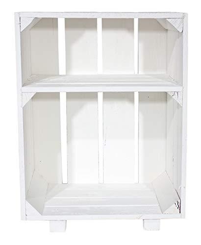 Moooble Deko Regal weiß mit Füßen | Zwei offene Fächer |NEU| 30,5x40x54cm | Stauraum für Dekoration, Badutensilien, Handtücher & mehr (2)
