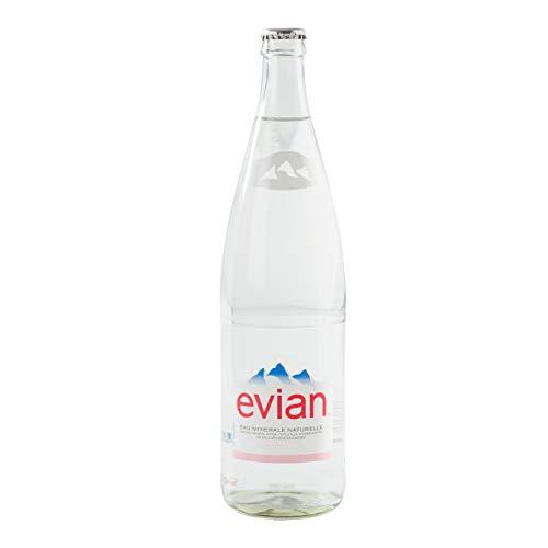 Evian Mineralwasser mit Kohlensäure 12 Flaschen x 1 Liter