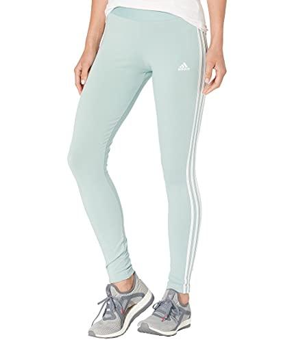 adidas Womens Essentials Legging Hazy Green/White X-Small