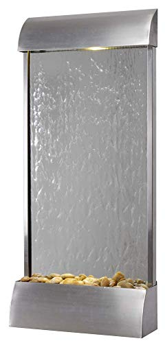Kenroy Home 51056SS Breckenridge Wall/Floor Fountain with Light, 42' H, Stainless Steel