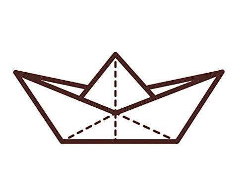Sello de madera - Barco Origami