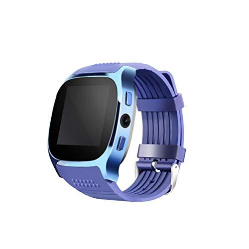 Smart Watch T8 BT3.0 Smart Armbanduhr Unterstützung SIM und TFcard Kamera Schrittzähler Sport Tracker (Blau)