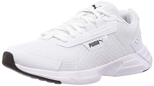 PUMA Space Runner Alt, Zapatillas para Correr de Carretera Unisex Adulto, Blanco White Black, 38 EU