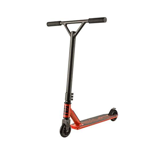 XLOO Scooters Profesionales: Patinete con Freno (Acero al manganeso) para niños de 8 años en adelante: Patinete Resistente, Suave y de Estilo Libre - Negro Naranja