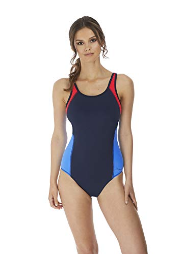 Freya Womens Freestyle Underwire Moulded Swimsuit, 36FF, Astral Navy