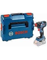 Bosch Professional 18V System sladdlös mutterdragare GDX 18V-200 C (max. vridmoment: 200 Nm, 1/4-tums invändig sexkant och 1/2-tums fyrkantstapp, anslutningsklar, utan batterier och laddare, i L-BOXX)
