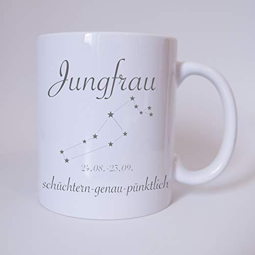 Sternzeichen Jungfrau - Tasse - Kaffeetasse - Tasse mit Spruch
