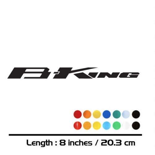 Luyangyund Motorcycle Bike Fuel Tank Wheels Carneading Cuaderno Equipaje Casco Moto Pegatina Calcomanías para Suzuki B King (Color : Reflective Red)