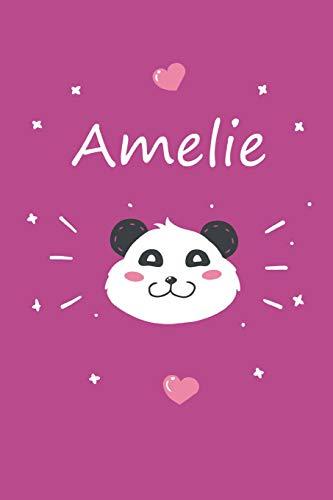 Amelie: Ein individuelles Panda Tage-/Notizbuch mit dem Namen Amelie und ganzen 100 linierten Seiten im tollen 6x9 Zoll Format (ca. DIN A5). Optimal ... Ostern oder zum Geburtst
