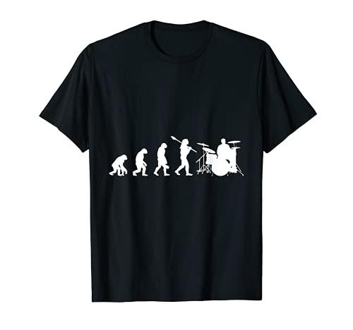 Drums Drummer Schlagzeug T-Shirts Evolution T-Shirt Bild