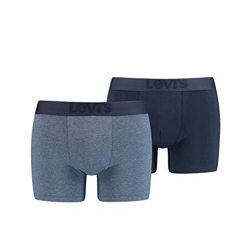 2er Pack Levis Premium Boxer Brief Boxershorts Herren Unterhose Pant Unterwäsche, Farbe:Navy, Bekleidungsgröße:XXL