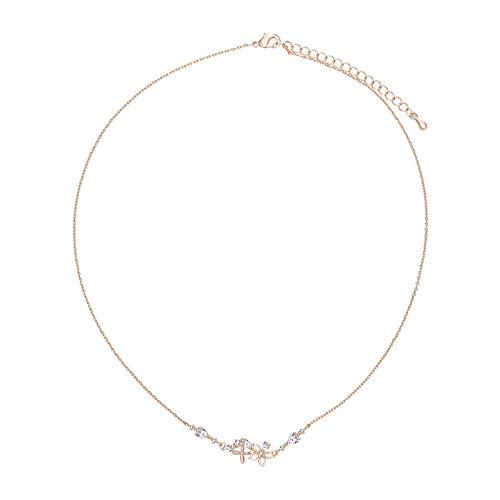 Beautifulchen Halskette, Blumenmärchen-Serie, kleine Blume Halskette des schönen Mädchens, vorzügliche Zirkonschlüschenkette