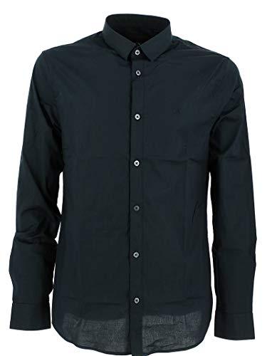 ARMANI EXCHANGE Smart & Slim Camicia, Blu (Navy 1510), Large Uomo