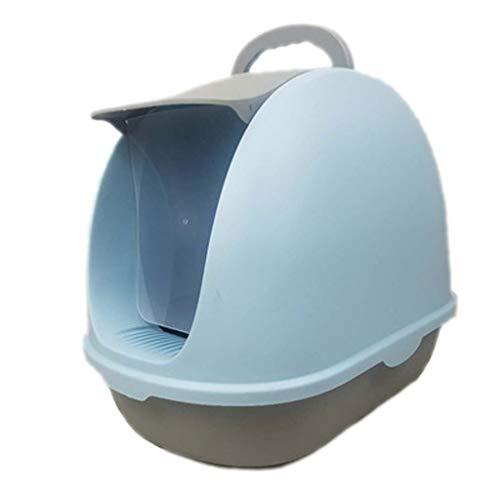 Yfdmbk Caja De Arena De Gato Totalmente Cerrado Gato Inodoro Desodorante Desodorante Desodorante Gato Suministros (Color : Blue)