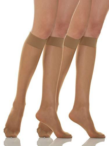 Relaxsan Basic 700[N] (2 Pares - Visón, tg.2) Medias a la rodilla 70 Den de compresión graduada sin talón 12-17 mmHg