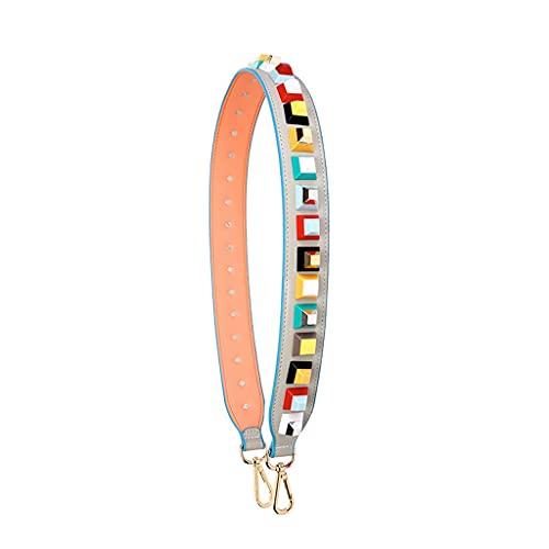 LEPSJGC Fashion Rivet Bag Strap Strap Strap Correa Rivet Accesorios Handles Femenino Correa Remache Multicolor (Color : G)