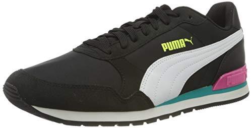 Puma Unisex-Erwachsene St Runner V2 Nl Sneaker, Black White Viridian Green, 39 EU