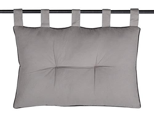 Lovely Casa - Testiera per letto 45 x 70 cm, motivo: topo grigio
