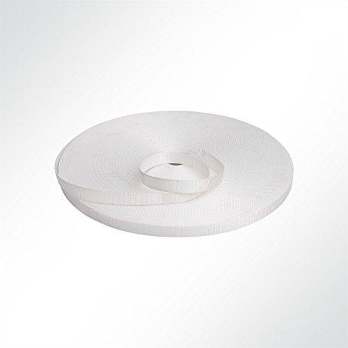 LYSEL® Gurtband Polyester, (B) 20mm in Weiß (1 lfm) 700kg