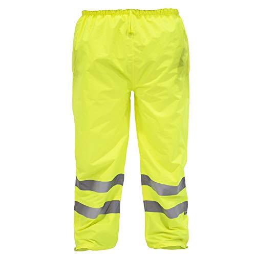 JORESTECH Safety Rain Pants Reflective High Visibility Yellow/Lime ANSI Class E 150D Heavy Duty PANTS-03 (XL)