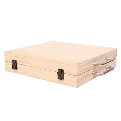 Unbekannt Aufbewahrungsbox Kosmetiktasche Mit Lippenstift Naturkieferbox Hochwertige Box Mit Ätherischen Ölen (Color : Wood Color, Size : 34 * 31 * 8cm)