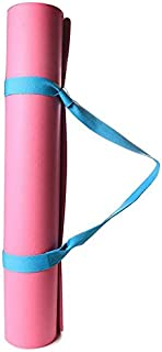 GoYoga All Purpose High Density Non-Slip Exercise Yoga Mat with Carrying Strap,BLUE