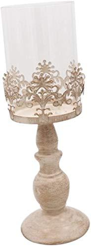N / A Metall-Stumpenkerzenständer, Teelichthalter, Laterne mit Glaskuppel für Zuhause, Hochzeit, DIY-Dekoration, Large