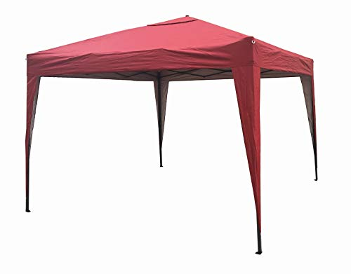 MCC - 3x3m Pop-up Gazebo Waterproof Outdoor Garden Marquee Canopy NS (Red)