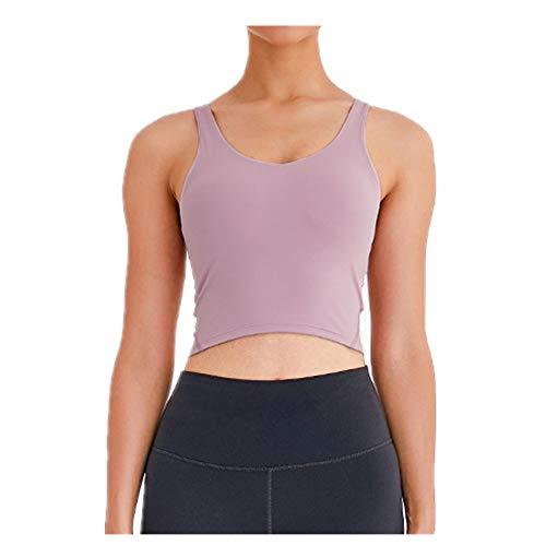 Chaleco de yoga con absorción de humedad y transpiración antibacteriana deportiva con sujetador desnudo de yoga
