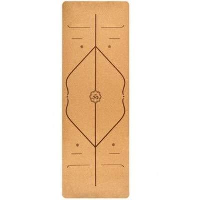 Colchonetas de Yoga 183X68cm Natural Cork TPE Yoga Mat Pilates Mats Aptitud Antideslizante Yoga Mats (Beige) Brown
