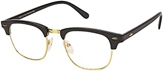 Arzonai ClubMaster Square Shape Black-Transparent UV Protection Sunglasses | Frame For Men & Women [MA-094-S6 ]