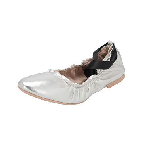 ESPRIT Kala Ballerina Damen Ballerinas Silber Slippers Espadrilles Loafer, Größe:EUR 40 (UK 6.5)