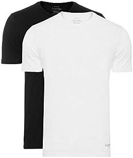 5499084b76 Kit de 2 Camisetas Calvin Klein Básicas Masculina - Preto e Branca