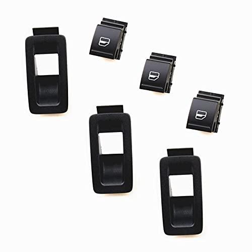 Interruptor de vidrio de ventana interior del coche y soporte de panel de marco de montaje apto para Passat B6 CC apto para Golf 5 MK5 6 MK6 apto para Tiguan apto para Seat-3X_Switch-box