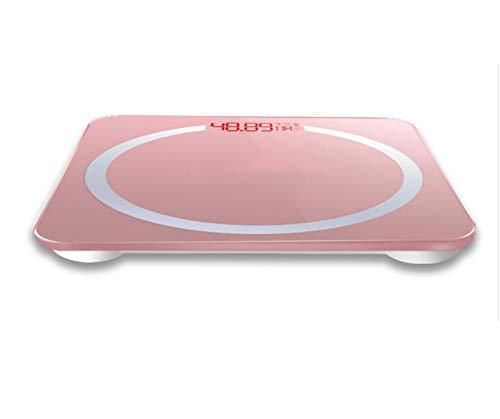 North cool Modelo De Carga USB Escala De Peso Mujer Hogar Preciso Cuerpo Pesaje Balanza Electrónica Gama Alta BMI Salud Escala Humana (Color : Rosado)