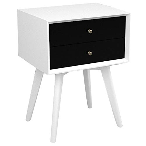 Brmind-Bedside table Comodino Vivente, Mobili per Camera da Letto con 2 Cassetti Armadio Multi-Colore Mix And Match