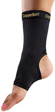 CopperSport Copper Compression Ankle Sleeve Support Suitable for Athletics Tennis Golf Basketball product image