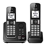 Panasonic KXTGD392B DECT 6.0 Expandable Digital Cordless Answering System 2-Handset