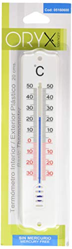 Termometro Pared/Jardin, Interior/Exterior Plástico 20 cm.