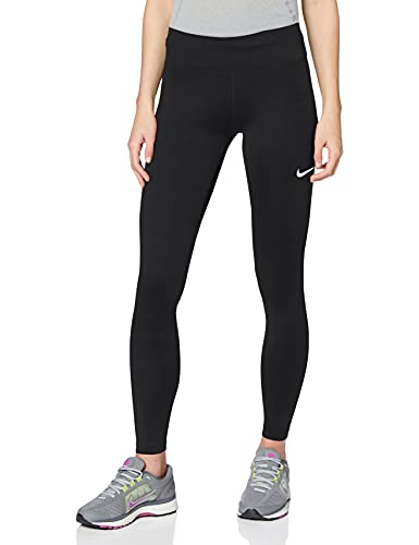 Nike Damen W NK Fast TGHT MR Sport Trousers, Black/(Reflective silv), XS